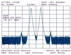 La distorsione di intermodulazione imd in segnale radio